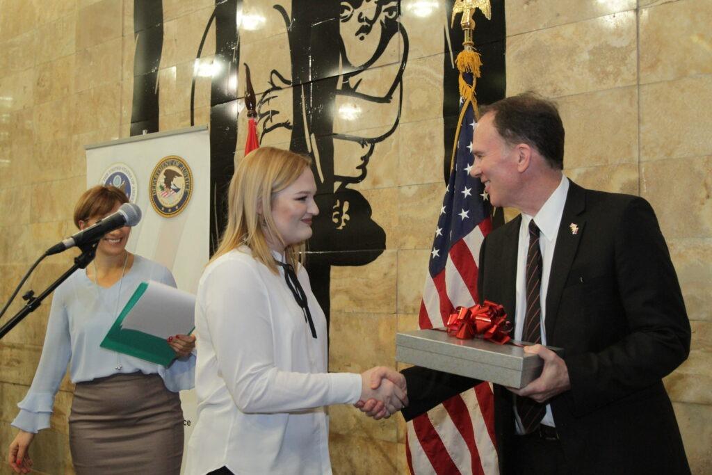 Ružica Ristivojević - Američka ambasada - dodela nagrade